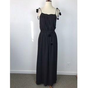 Ann Taylor Loft Pom Pom Lined Maxi Dress